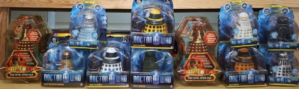 Doctor Who - Character Options - ten Dalek action figures; two radio control Supreme Daleks, three