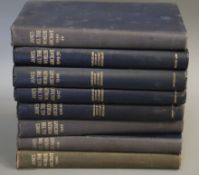 Jane's - Jane's All the World's Aircraft, 8 vols, qto, cloth, London 1940 - 1950 and 34 vols, all