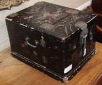 A Japanese Ryuku lacquer box 37cm