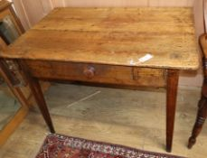 An early 19th century provincial small pine table W.104cm