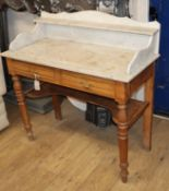 A Victorian marble-topped washstand