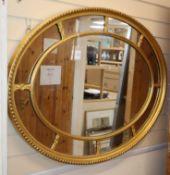 A giltframe marginal plate wall mirror