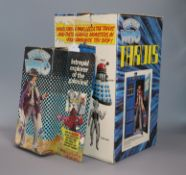 Doctor Who - Denys Fisher - Doctor Who figure (Tom Baker) and Tardis, c.1976, the figure with