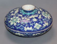 A Chinese lidded dish diameter 14cm