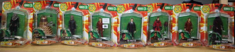 Doctor Who - Character Options - poseable action figures; eighteen from Series 3 and a Series 3