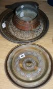 A quantity of Middle Eastern metalware including brass and copper