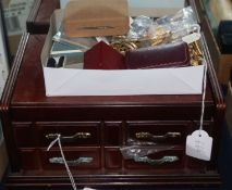 A quantity of assorted costume jewellery, in two boxes.