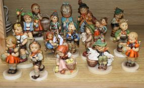 A collection of mixed Goebel figures tallest 15cm