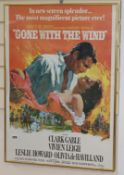A framed pulp Fiction poster print and Gone with the Wind poster print largest 99 x 66cm