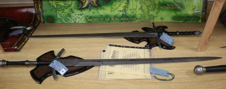 Lord of the Rings - United Cutlery Brands prop replicas - Sword of the Witchking and Sword of the