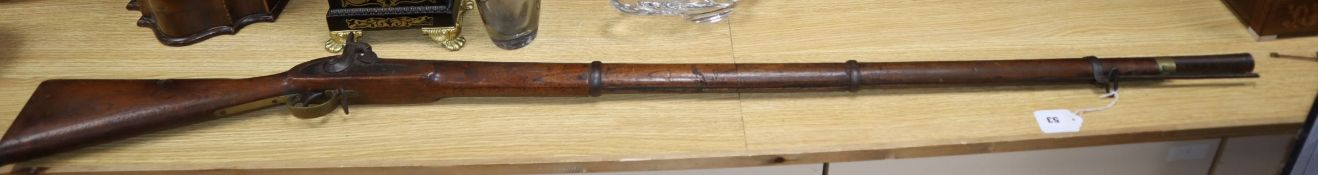An Indian musket length 155cm