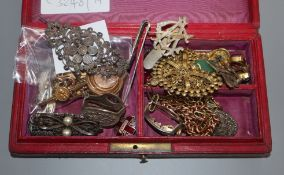 A box of assorted mainly costume jewellery.