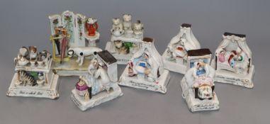 Eight assorted ceramic fairings