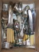 A quantity of mixed plated flatwares