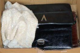 A snakeskin bag, a crocodile stationery case, a bead top etc.