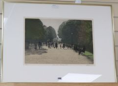 Harold Altman (1924-2003), limited edition print, 'Gate, Parc Monceau 1979', signed in pencil, 66/