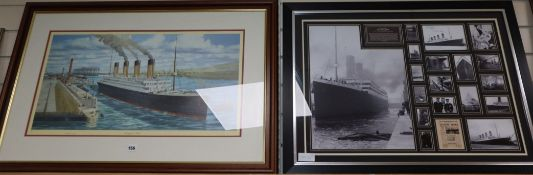 Millvina Dean, the last survivor of The Titanic, a signed photo montage and a signed limited edition