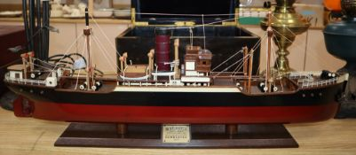 A model ship 'Dumbarton' height 68cm