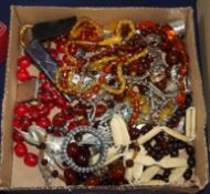 A quantity of mixed jewellery including costume and silver.