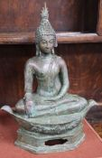 A cast bronze Buddha height 40cm
