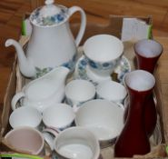 A Wedgwood Clementine part service and sundry Poole pottery