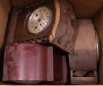 A large quantity of mantel clocks