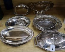 A quantity of Old Sheffield plate baskets and other mixed plated wares