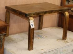 An Alvar Aalto side table, Finmar label attached W.59cm