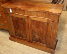 A Victorian mahogany chiffonier W.101.5cm