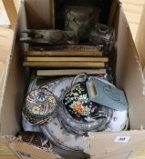 A quantity of mixed china, pictures, etc.