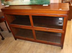 A Globe Wernicke style mahogany two section bookcase W.128cm