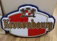 A Kronenbourg sign