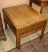 A pair of Drexel Accolade drawer occasional tables W.58.5cm
