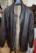 A Burberry men's leather jacket