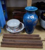 A quantity of Oriental ceramics and a Mahjong set