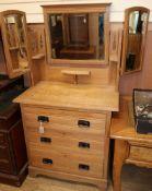 A late Victorian satin walnut dressing chest W.84cm