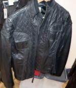 A lady's Michael Kors leather jacket, size L.
