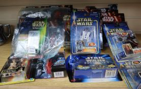 Star Wars - Hasbro action figures, from episodes I - IV, The Force Awakens and Rogue One Carded