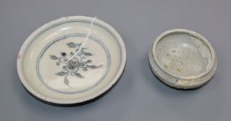 A Chinese ding type dish, Song dynasty and an Annamese dish