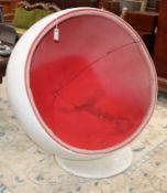 After Aarnio, a ball chair H.120cm