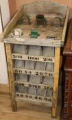 A French 'toad in the hole' games table W.46cm