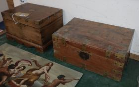 Two Anglo Indian hardwood boxes