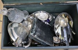 A quantity of silver and plated items