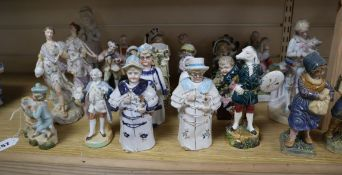 A quantity of 19th century ceramic figures