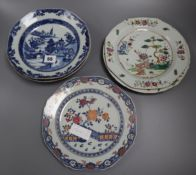 Six Chinese export plates