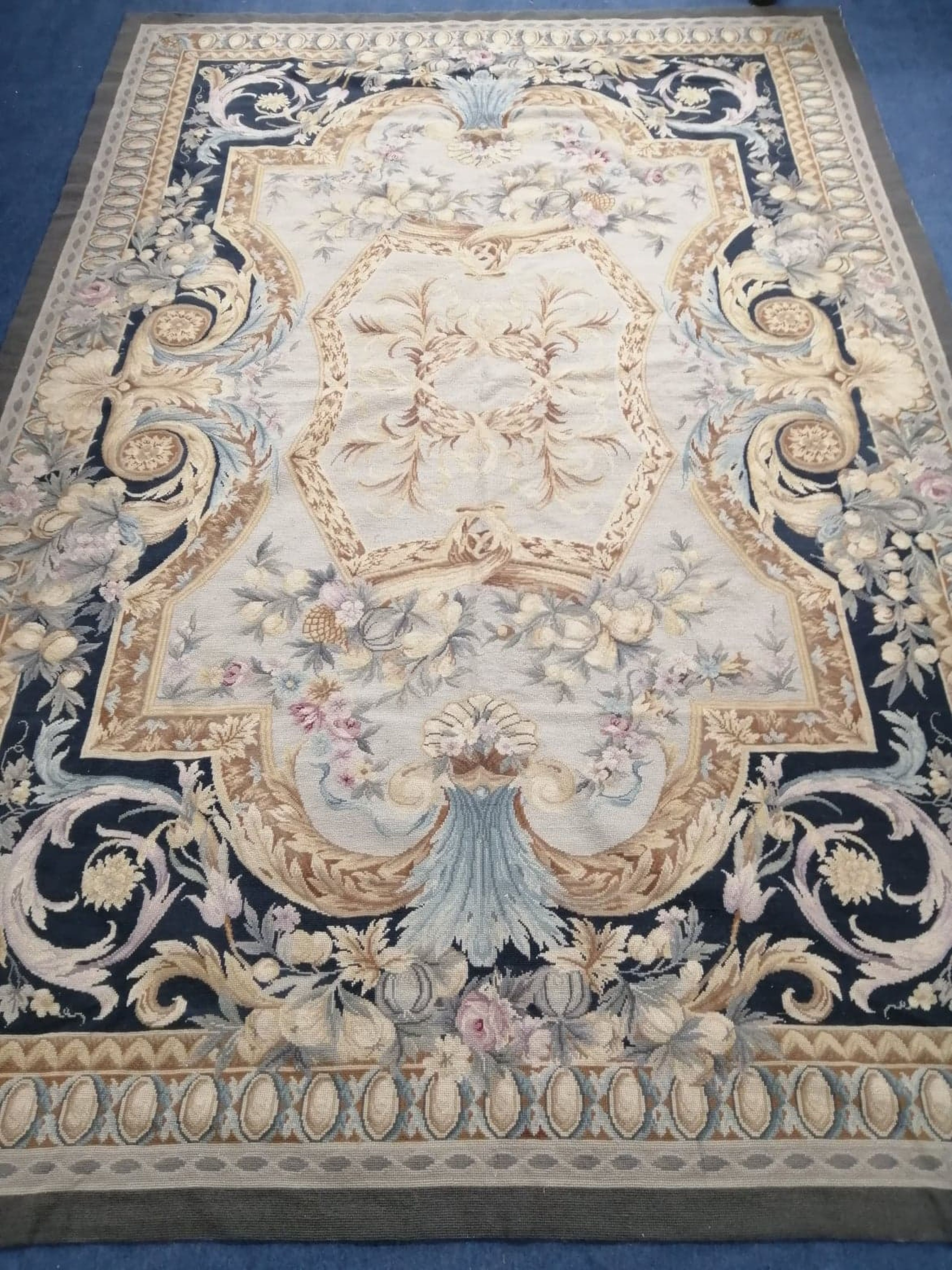 Lot 922 - An Aubusson style tapestry hanging 266 x 180cm