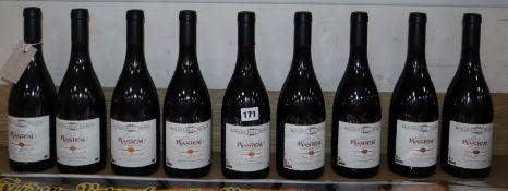 """Nine bottles of Domaine Beau Mistral Rasteau Cotes du Rhone Villages """"Cuvee Les Florianaelle"""", 2007"""