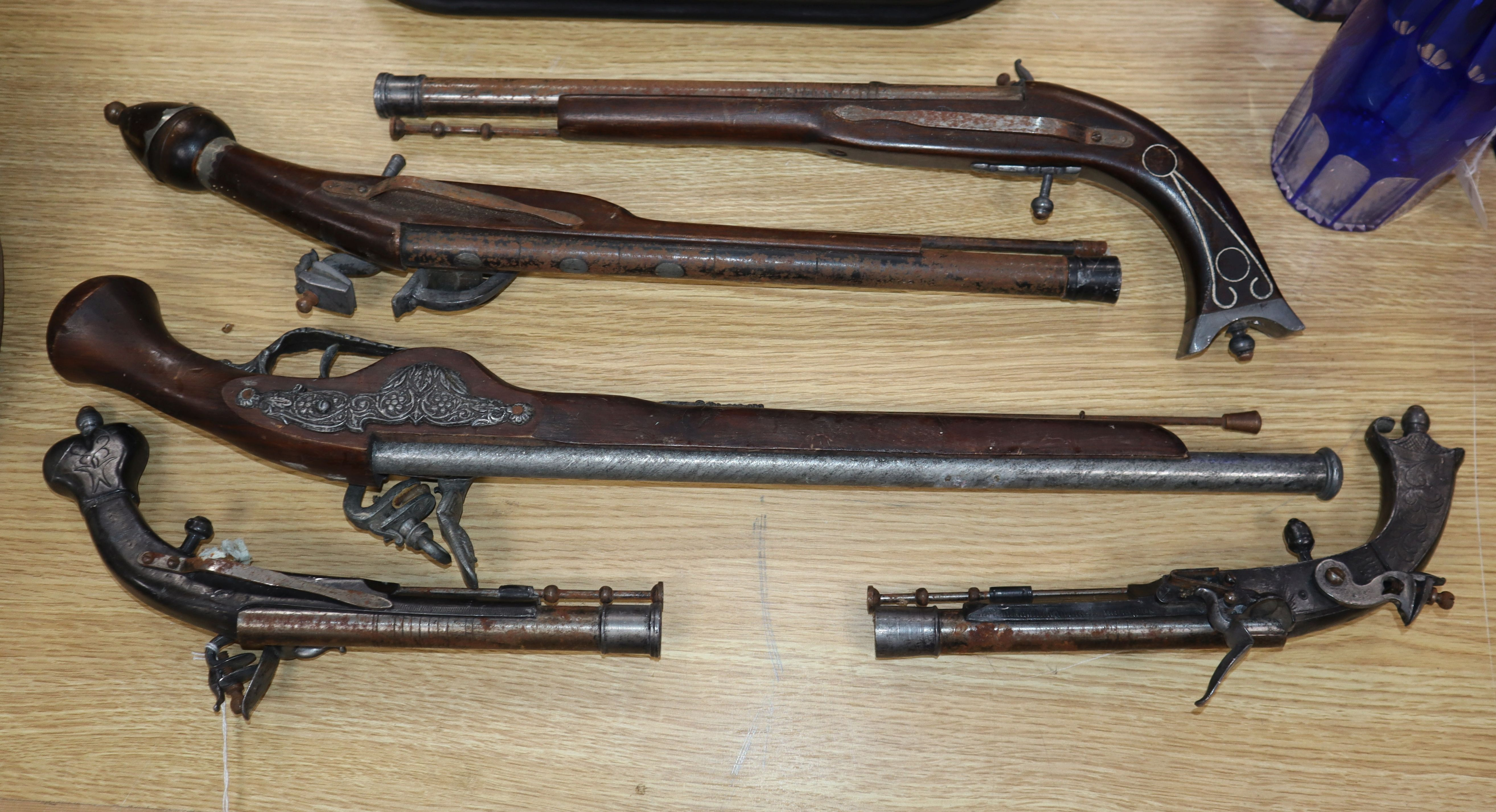 Lot 155 - Five theatrical pistols