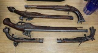 Five theatrical pistols