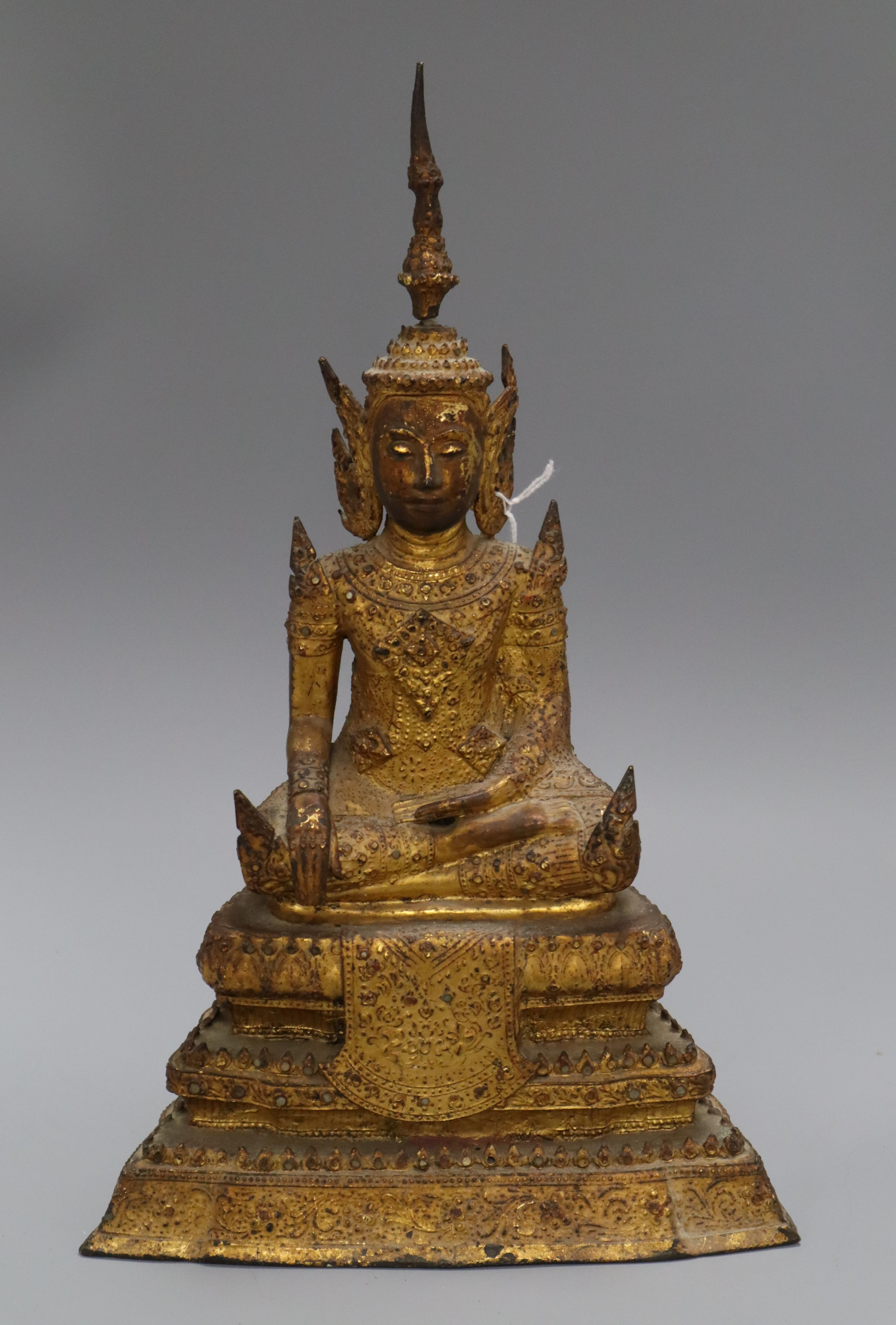 Lot 30 - A 19th century Thai gilt bronze Buddha height 36cmProvenance - from the family of a Victorian